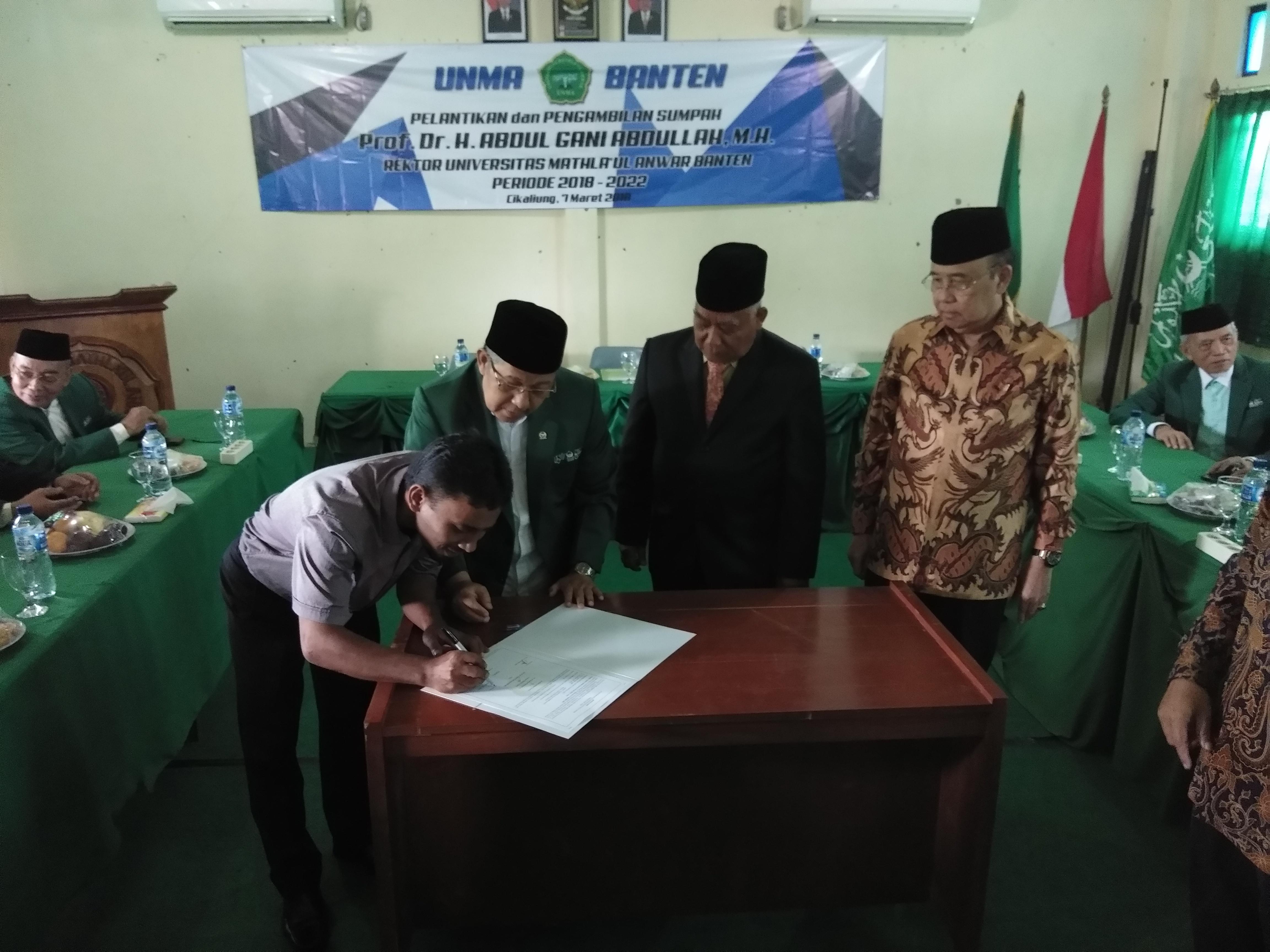 Pelantikan Rektor Baru UNMA Banten