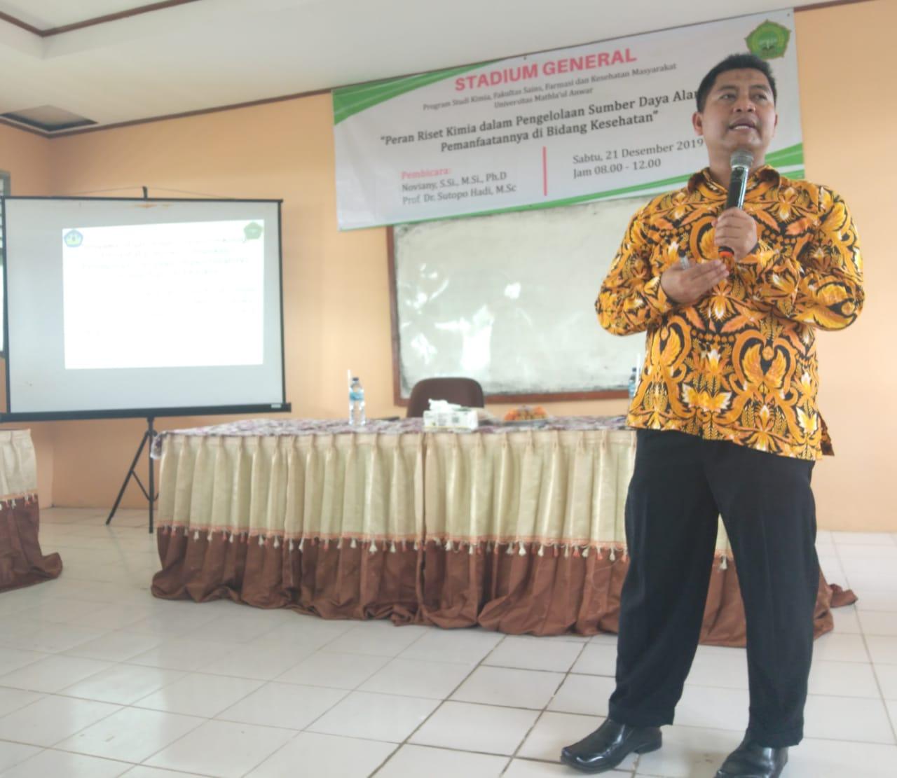 Program Studi Kimia FSFK Unma Banten Laksanakan Stadium General