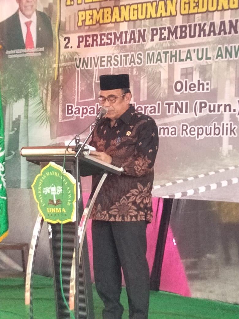 UNMA Banten Gelar Acara Peletakan Batu Pertama Gedung Serba Guna.