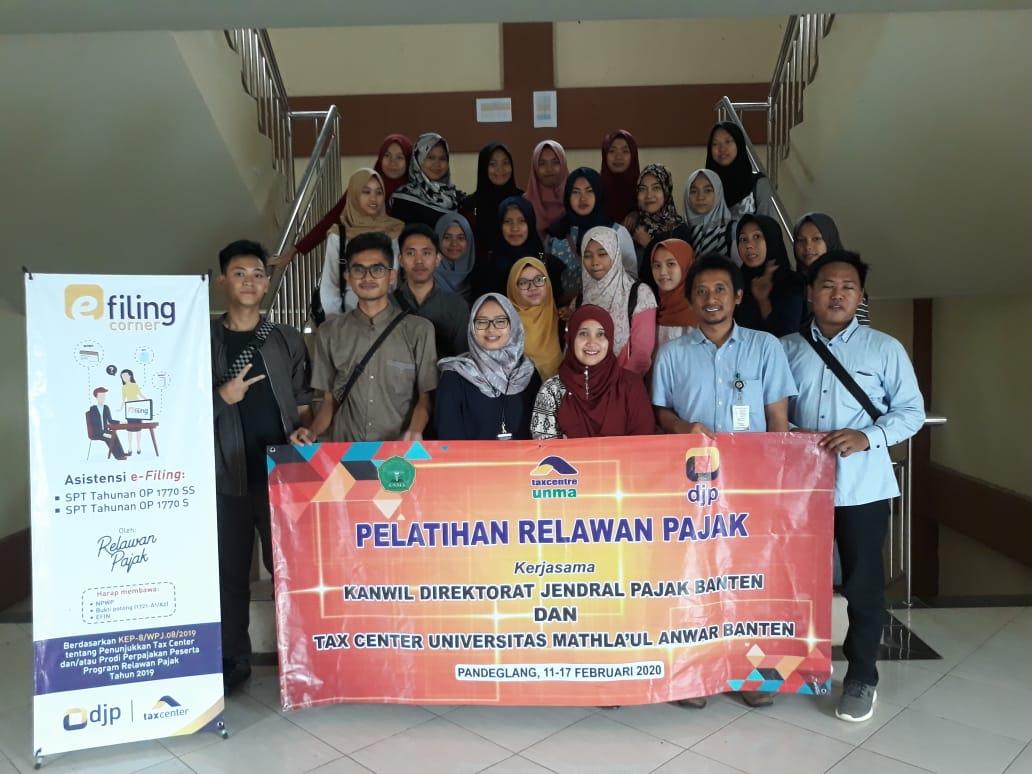 Universitas Mathla'ul Anwar Banten Melaksanakan Kegiatan Pelatihan Relawan Pajak