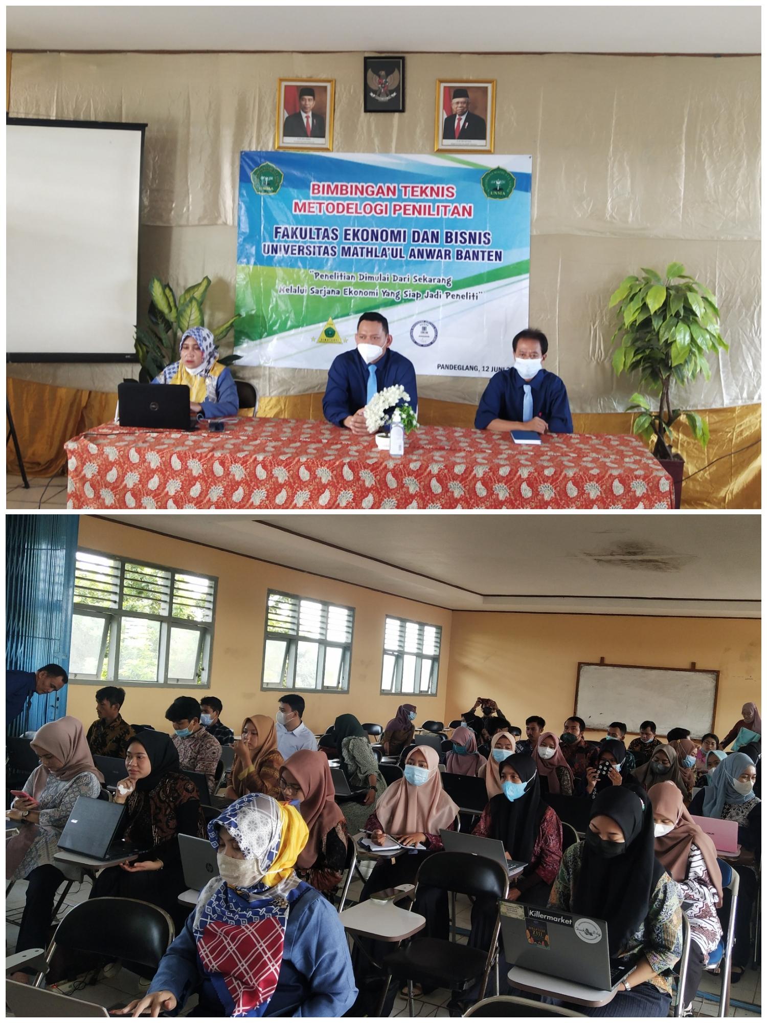 Bimbingan Teknis Metodelogi Penelitian Fakultas Ekonomi dan Bisnis Universitas Mathla'ul Anwar Banten